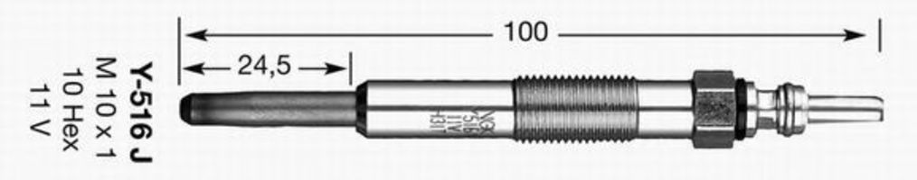 Свеча накаливания D-Power 12 NGK 6416