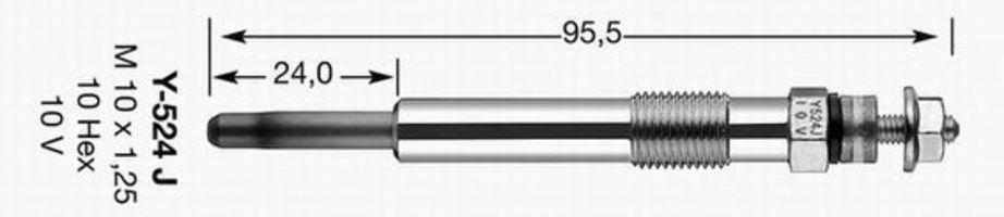 Свеча накаливания D-Power 27 NGK 4520