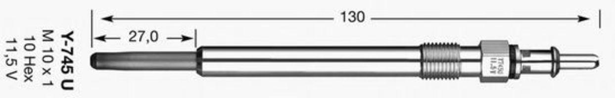 Свеча накаливания D-Power 11 NGK 6346