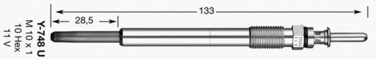 Свеча накаливания D-Power 14 NGK 6649