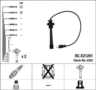 Провода высоковольтные комплект NGK 0352