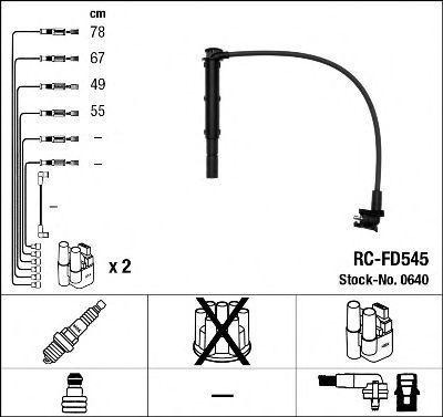 Провода высоковольтные комплект NGK 0640