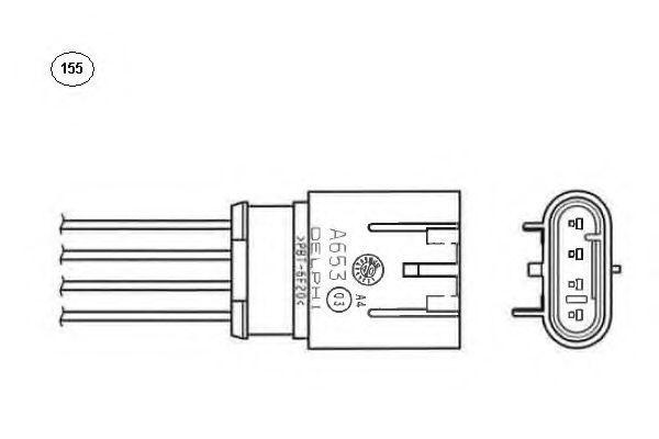 Лямбда-зонд NGK 93884