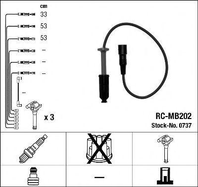 Провода высоковольтные комплект NGK 0737