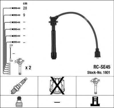 Комплект проводов зажигания NGK 1801