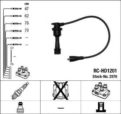 Комплект проводов зажигания NGK 2570