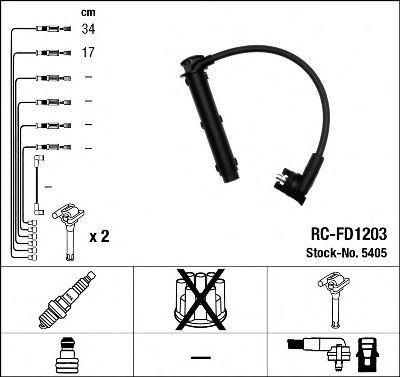 Провода высоковольтные комплект NGK 5405