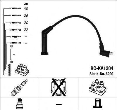 Провода высоковольтные комплект NGK 6299