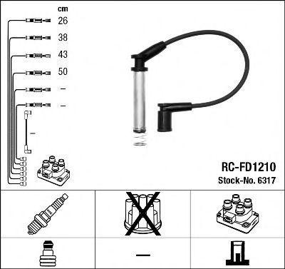 Провода высоковольтные комплект NGK 6317