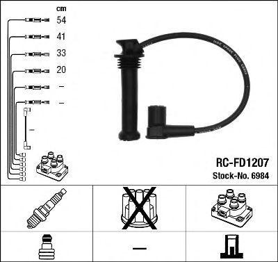 Провода высоковольтные комплект NGK 6984