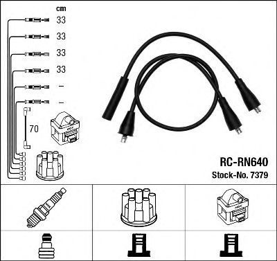 Комплект проводов зажигания NGK 7379