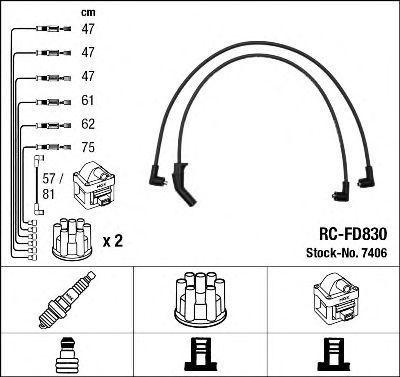 Провода высоковольтные комплект NGK 7406