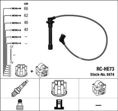 Комплект проводов зажигания NGK 8474