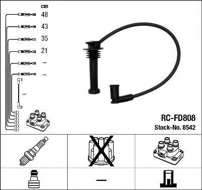 Провода высоковольтные комплект NGK 8542