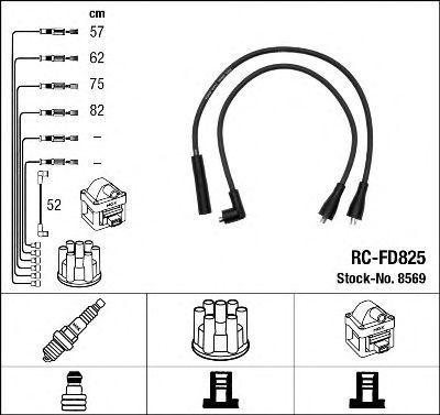 Провода высоковольтные комплект NGK 8569