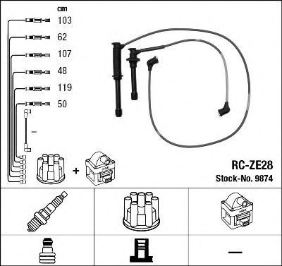 Провода высоковольтные комплект NGK 9874