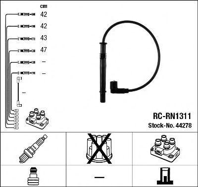 Провода высоковольтные комплект NGK 44278