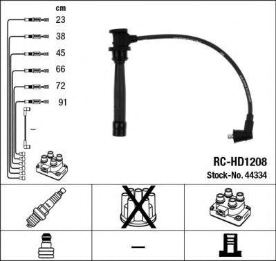Комплект проводов зажигания NGK 44334