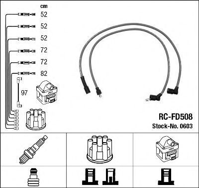 Комплект проводов зажигания NGK 0603