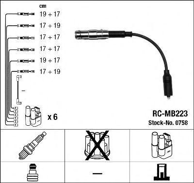 Провода высоковольтные комплект NGK 0758