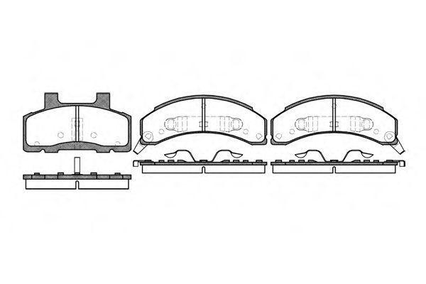 Колодки тормозные с датчиком износа ROAD HOUSE 251802
