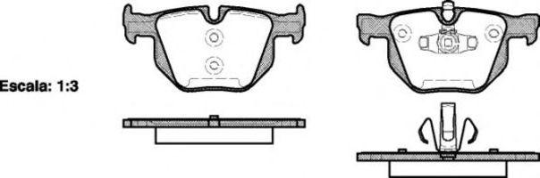 Купить Колодки тормозные задние REMSA 038170