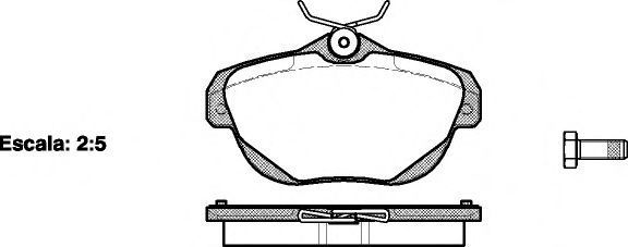 Колодки тормозные REMSA 120300