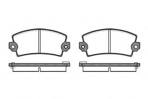 Колодки тормозные задние REMSA 002106