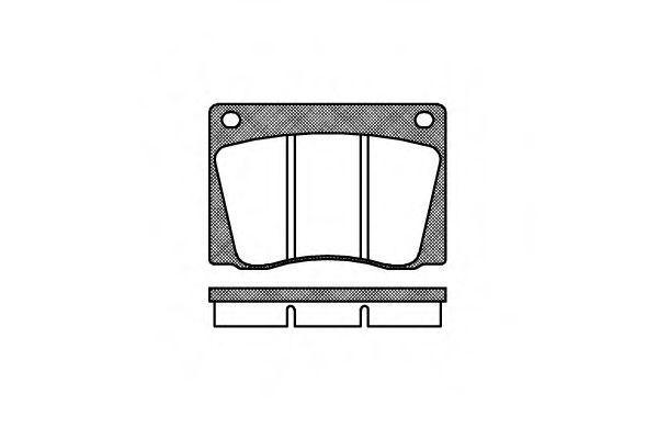 Комплект тормозных колодок, дисковый тормоз REMSA 003700