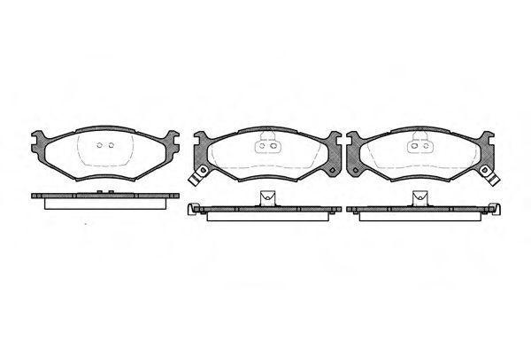 Колодки тормозные REMSA 048302  - купить со скидкой