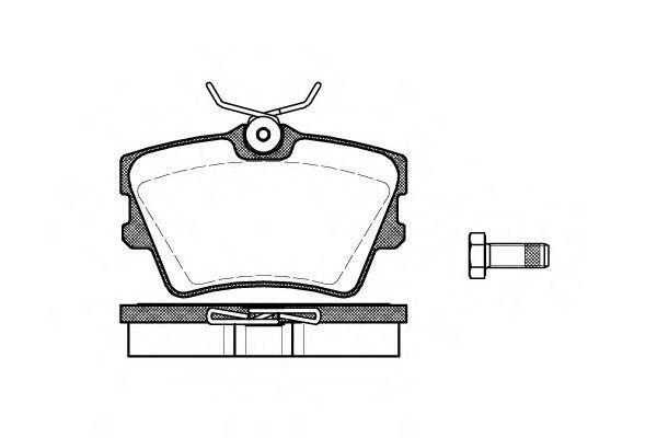 Купить Колодки тормозные задние REMSA 059100
