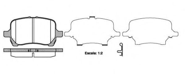 Комплект тормозных колодок, дисковый тормоз REMSA 108912