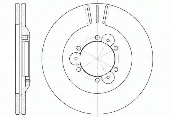 Диск тормозной REMSA 656010