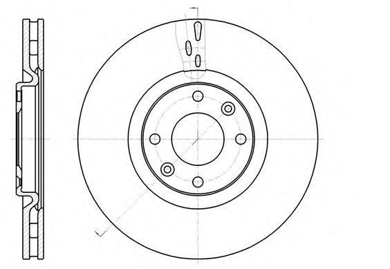 Диск тормозной передний REMSA 6105910