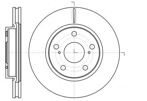 Диск тормозной передний REMSA 6107710