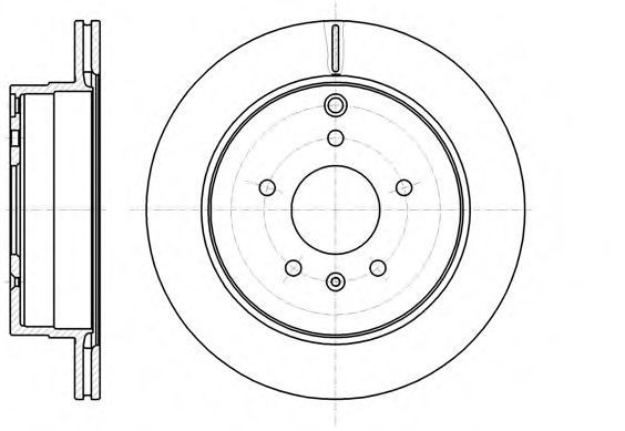 Диск тормозной передний REMSA 61182.10