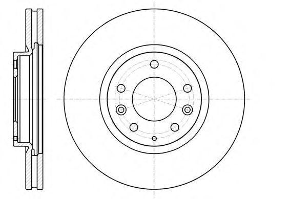 Купить Диск тормозной передний REMSA 6123610