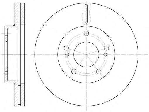 Тормозной диск REMSA 6124210