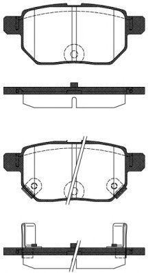 Колодки тормозные задние REMSA 128622  - купить со скидкой