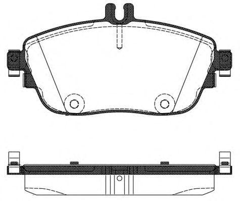 Колодки тормозные передние REMSA 148508