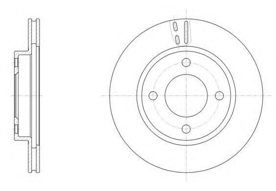Тормозной диск REMSA 6152910