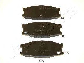 Колодки тормозные JAPANPARTS PA507AF