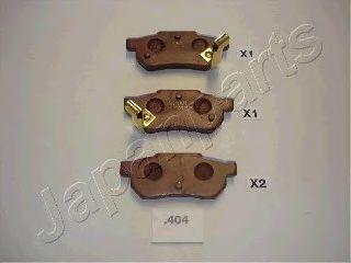 Колодки тормозные JAPANPARTS PP404AF