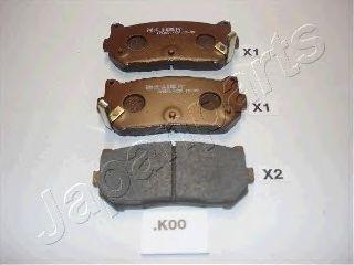 Колодки тормозные JAPANPARTS PP-K00AF