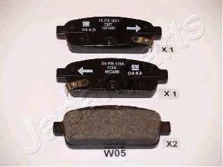 Колодки тормозные JAPANPARTS PPW05AF
