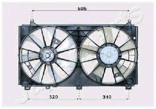 Вентилятор, охлаждение двигателя JAPANPARTS VNT152503