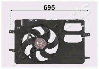 Вентилятор, охлаждение двигателя JAPANPARTS VNT162001