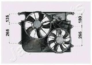 Вентилятор, охлаждение двигателя JAPANPARTS VNT312011