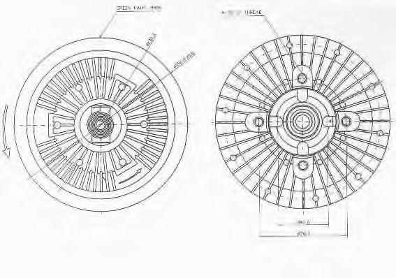 Сцепление, вентилятор радиатора BUGIAD BFC041