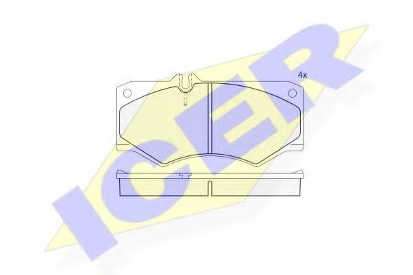 Колодки тормозные ICER 140405